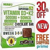 Vitamin D3 K2 – K2 D3 Vitamin Supplement - Vitamin K2 D3 – D3 Vitamin K2 - Vegan Vitamin D3 K2 - Best Vitamin D3 K2