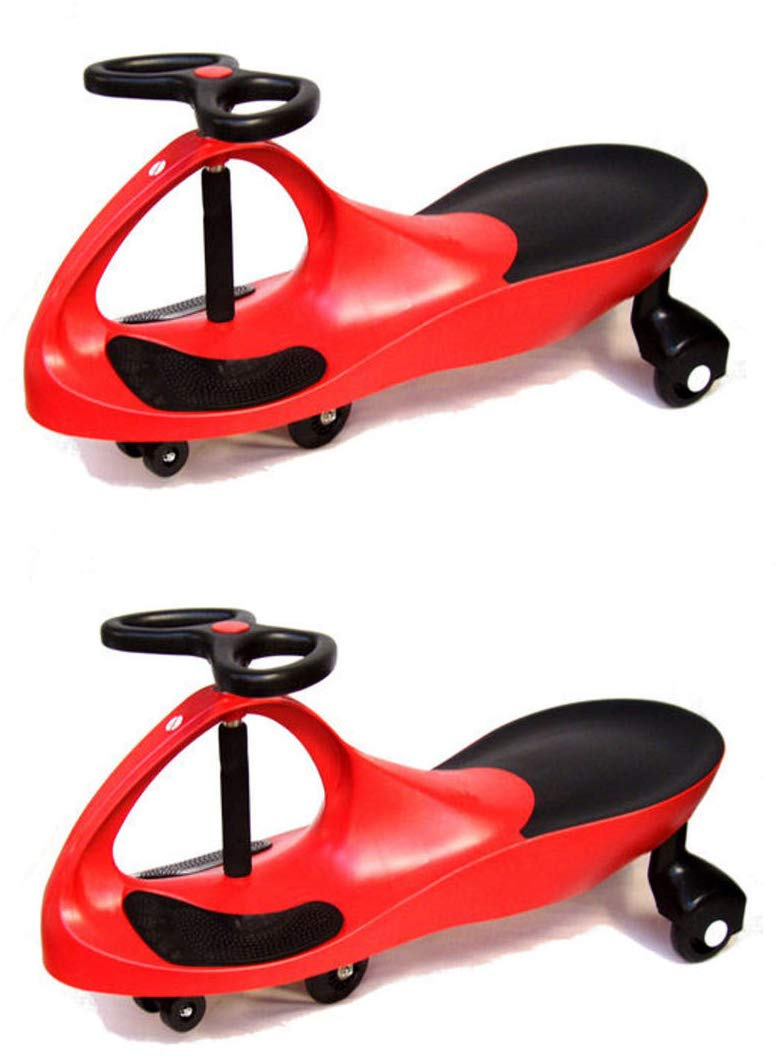 2 x Wiggle Cars in Red   Colourful Sturdy Outdoor Bike Car Toy   Wiggle around your neighbourhood in style and colours    Supports 100 kg. on smooth surfaces   Size  81 x 35.5 x 38 cm   Age 3+