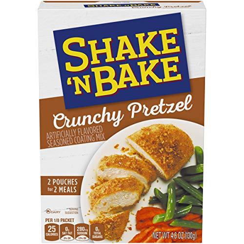 Kraft Shake 'n Bake Crunchy Pretzel Seasoned Coating Mix, 4.6 oz Box - Dippers Gourmet Pretzel