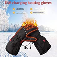 Heating Warm Gloves, Winter Riding Gloves USB Heating Gloves, Suitable for Outdoor Activities in Cold Weather,