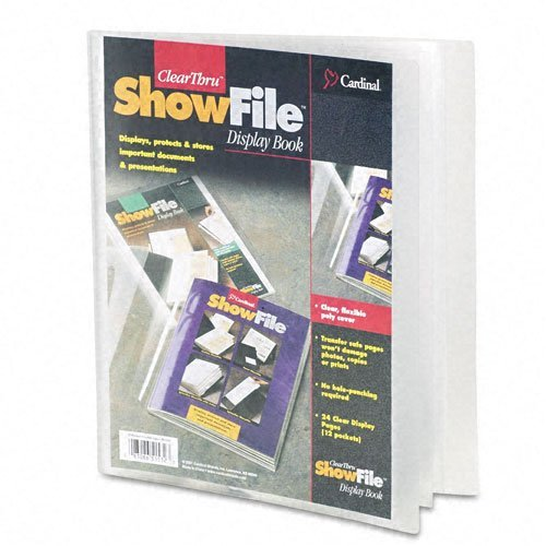 (ClearThru ShowFile Presentation Book, 12 Letter-Size Sleeves, Clear)