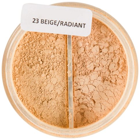 freshMinerals Mineral Duo Loose Powder Foundation, 23 Beige/Radiant, 6 (Radiant Loose Powder)