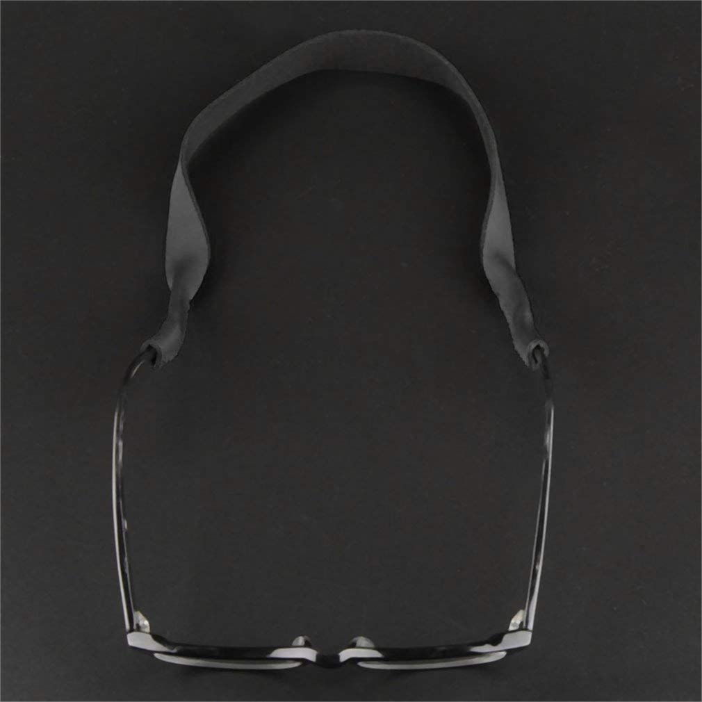 Yofafada Universal Glasses Neoprene Stretchy Band Strap Sunglasses Cord Holder Black