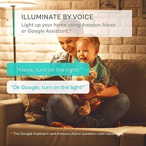 eufy Lumos Smart Bulb by Anker- White, Soft White (2700K), 60W Equivalent, Works with Amazon Alexa & The Google Assistant, No Hub Required, Wi-Fi, Dimmable LED Light Bulb, 9W, A19, E26 (2-Pack) by eufy (Image #1)