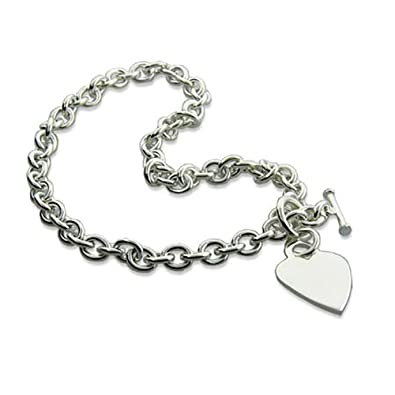 5124073acc6b Amazon.com  Heavy Gauge Silver Heart Tag Necklace  Jewelry