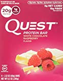 quest preworkout - Quest Nutrition Protein Bar, White Chocolate Raspberry, 4 Count