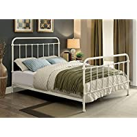 247SHOPATHOME Idf-7701WH-Q Bed-Frames, Queen, White
