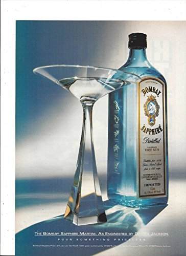 PRINT AD For 1998 Bombay Sapphire Dry Gin Entwined Glass By Eliav Nissan Orig...