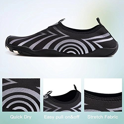 HOBIBEAR Beach Lightweight Yoga Aqua Water Black Slip Barefoot Shoes on Dry for Men Pool Boating Socks Quick CqO1wRrC