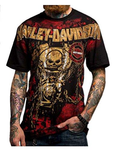 Harley-Davidson Men's Road Assassin Crew Neck Short Sleeve T-Shirt 5503-HC9B