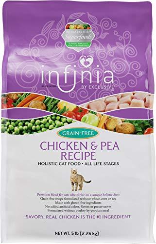 Infinia Chicken and Pea Recipe Cat Food, 5 lb Bag ()