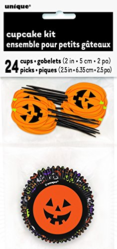 Pumpkin Faces Halloween Cupcake Kit for -