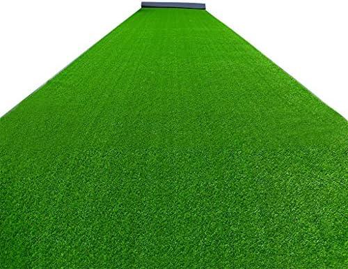 人工芝草芝生、現実的な人工芝マット、ペットのための屋内屋外の庭の芝生の風景、排水穴付きフェイクフェイク草ラグ (Size : 8x7 Feet)