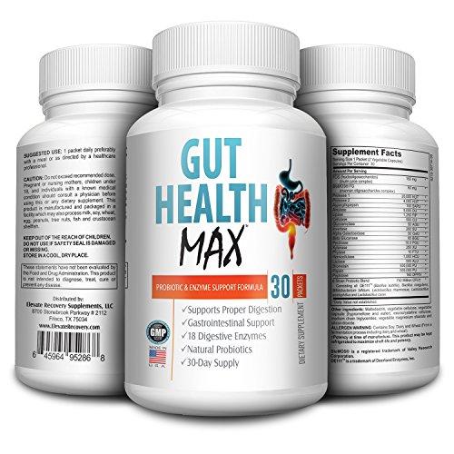 Total Gut Health Support Supplement - Formula - Pills - Probiotic Supplements - Digestive Enzymes - Gut Probiotics - 30 Packets (Best Probiotic Brand For Leaky Gut)
