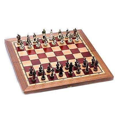 20-Inch Hand Made Wooden Chess Set Borodino