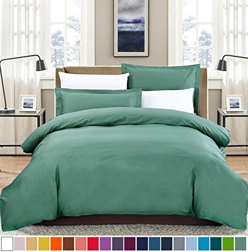 SUSYBAO 100% Natural Cotton 3 Pieces Duvet Cover Set King Si