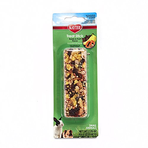 Kaytee Fiesta Fruity Raisin Treat Stick for Small Animals, (Honey Treat Guinea Pig)