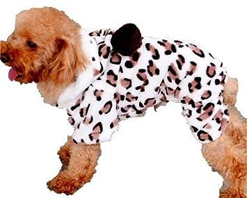 Z De Cuatro Patas Leopardo del Mono con Capucha Suave Terciopelo Pijama De Ropa para Perros Mascotas para Pequenos Grandes Perros Medianos: Amazon.es: Hogar