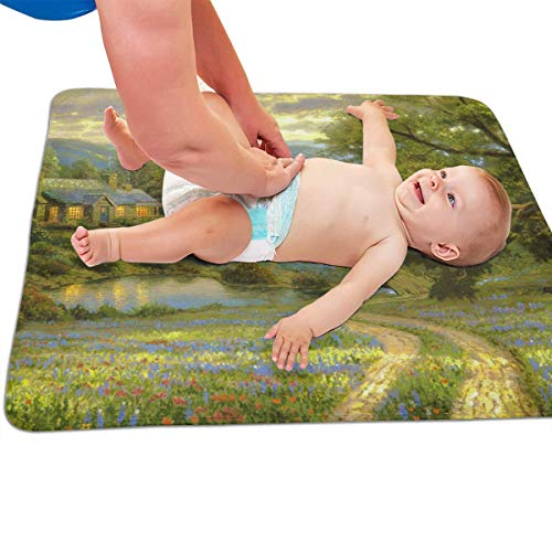 V5DGFJH.B Baby Portable Diaper Changing Pad Dream Countryside Urinary Pad Baby Changing Mat 31.5