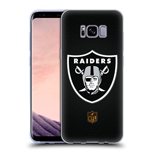 Official NFL Football Oakland Raiders Logo Soft Gel Case for Samsung Galaxy S8+ / S8 Plus