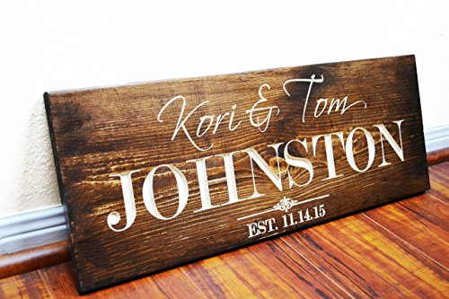- FAST SHIPPING Personalized Family Name Sign Wedding Gift Custom Carved Wooden Signs Last Name Décor Established Wood Plaque Engraved