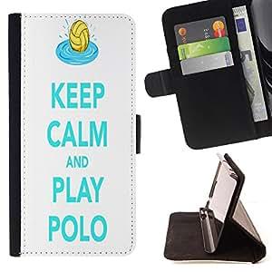 Cat Family ???¡¯?¡??nico Dise???¡¯???¡Ào caja de la PU billetera de cuero - FOR Samsung Galaxy Core Prime - UnderWater Polo -