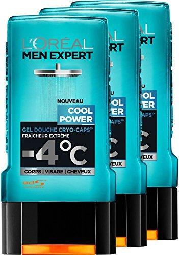 L'Oréal Men Expert Cool Power Fraicheur Extrême Gel Douche pour Homme 300 ml - Pack of - Douche Pour