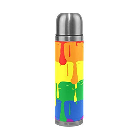New Travel Office Bike Bicycle Cartoon Stainless Steel Water Bottle Vacuum Flask