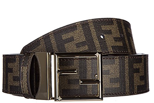 Fendi women's adjustable length reversible belt zucca red