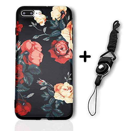 - iPhone 7 Plus/8 Plus Cute Case for Woman Girls, Rose Floral Pattern Flexible Soft Floral Series Slim-Fit Ultra-Thin Anti-Scratch Shock Proof Anti-Finger Print TPU Case for iPhone 7/8 Plus 5.5 Inch