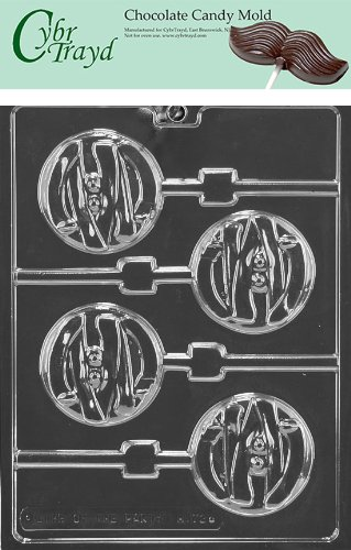 (Cybrtrayd Life of the Party H172 Halloween Mummy Face Lolly Chocolate Candy Mold in Sealed Protective Poly Bag Imprinted with Copyrighted Cybrtrayd Molding)