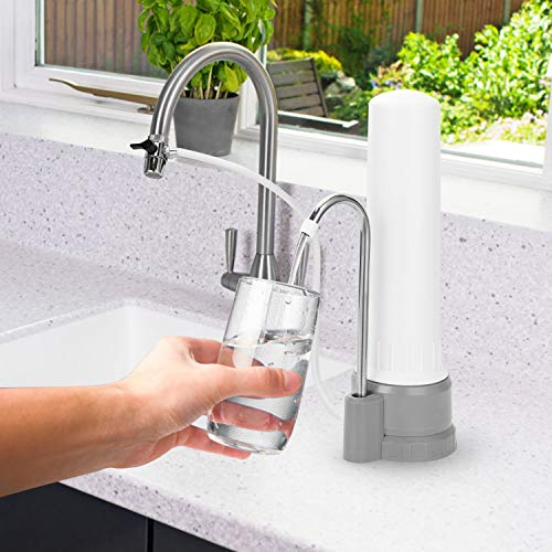 - HeadSPRING Countertop Drinking Water Filter, CS-A1 Countertop Water Filtration System, Water Purifier Filter White