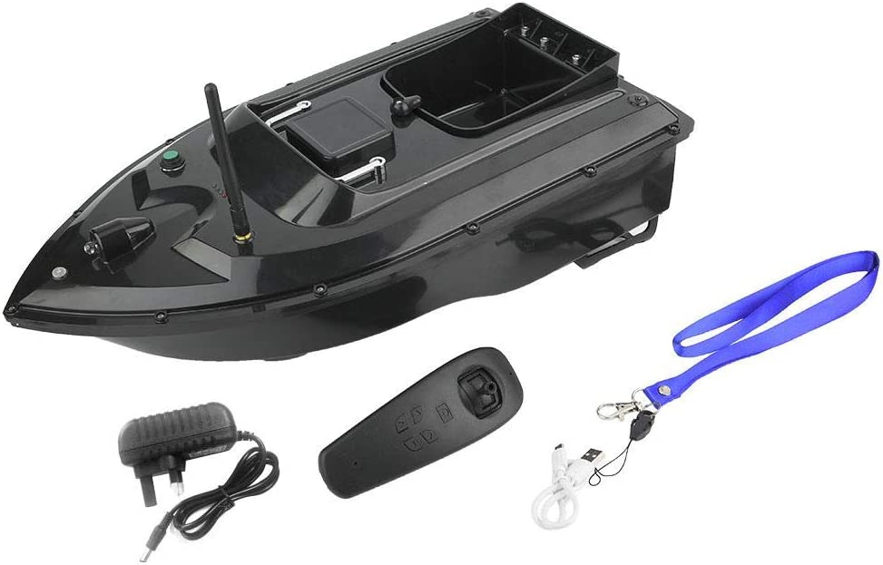 Fishing Bait Boat 110-240V 500M Waterproof Multifunctional Wireless Remote Control Ship Speedboat Fish Finder RC Electric Boat with Folding Strengthen Signal Antenna Good Gifts for Men Adults UK