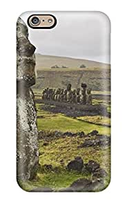 Zheng caseHot Tpye Moai Statues Of The Easter Island View Case Cover For Iphone 6