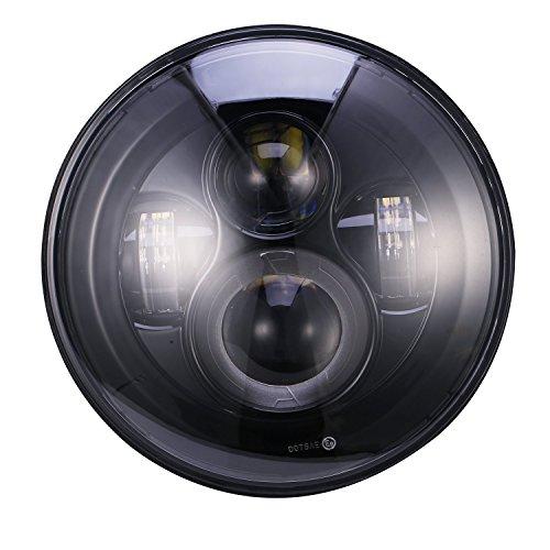 u Box Projection Daymaker Headlight Motorcycles Black
