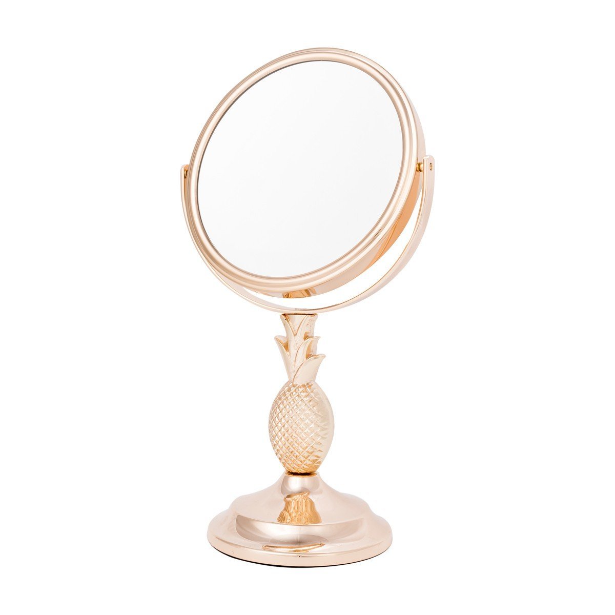 Danielle Two-Sided 10X Magnification Pineapple Vanity Mirror, Gold
