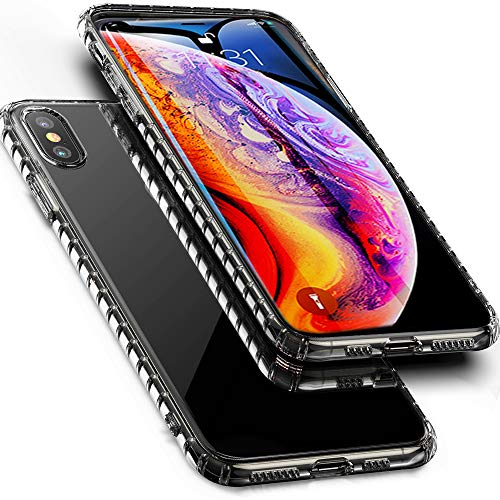 GDTOGRT iPhone Xs Max Case, Clear Slim Thin Soft Transparent TPU Hybrid Excellent Grip 2.5D Curved Back Non-Slip Bumper Cover Case Compatible Apple iPhone Xs Max 6.5(2018) - Crystal Clear