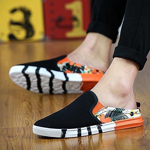 RUGAI-UE Estate biancheria e scarpa men cool e semi-pantofole indoor sandali di svago per gli uomini, Colore