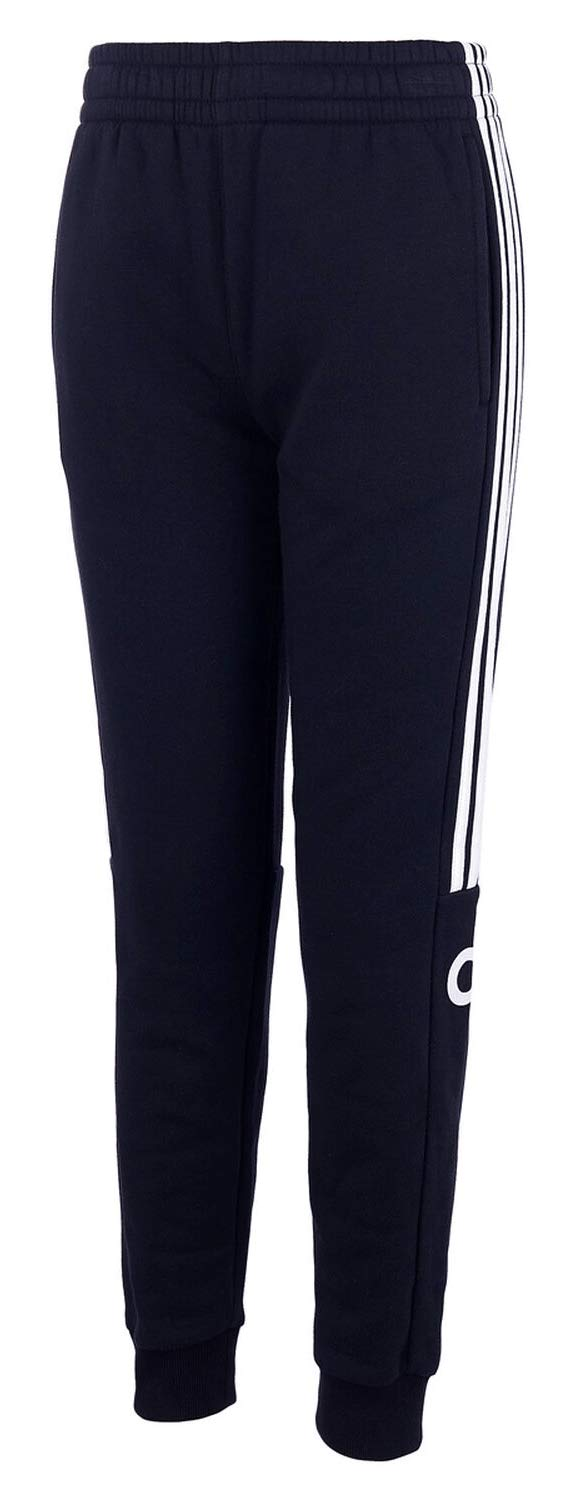 adidas Kids Boy's Core Linear Jogger (Big Kids) Navy MD (10/12 Big Kids) by adidas