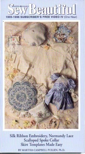 Scalloped Silk - silk ribbon embroidery; normandy lace scalloped spoke collar; skirt templates made easy (sew beautiful)