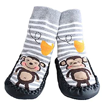 Amazon Com Baby Boys Girls Moccasins Anti Skid Indoor