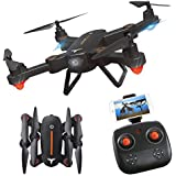 RC Quadcopter, ASGO F16 Foldable Remote Control WiFi Drone with 2MP HD Camera and Two Rechargeable Batteries