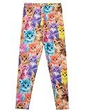 Jxstar Little Girl's Leggings Cartoon Animal Print Trousers Cat Pattern Ankle Length Basic Leggings Thin Cat 130