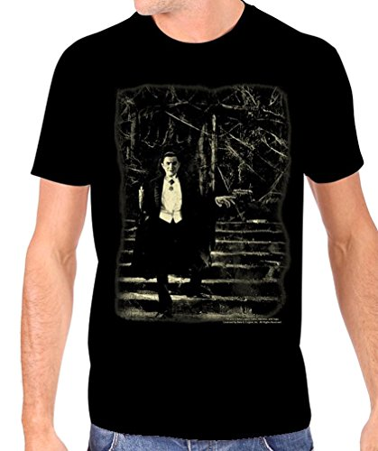 Universal Men's Bela Lugosi Dracula Stairs Glow In The Dark T-Shirt XL -