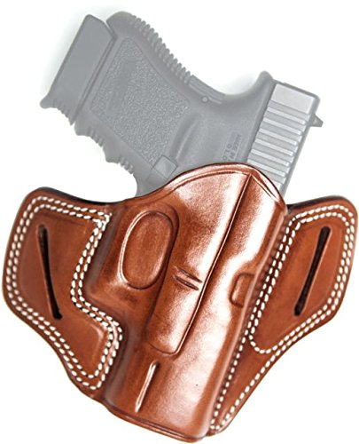 Cebeci 20825RT46 Right-Hand Leather Pancake Combat Grip 20825 Holster Gun  Belt, Tan