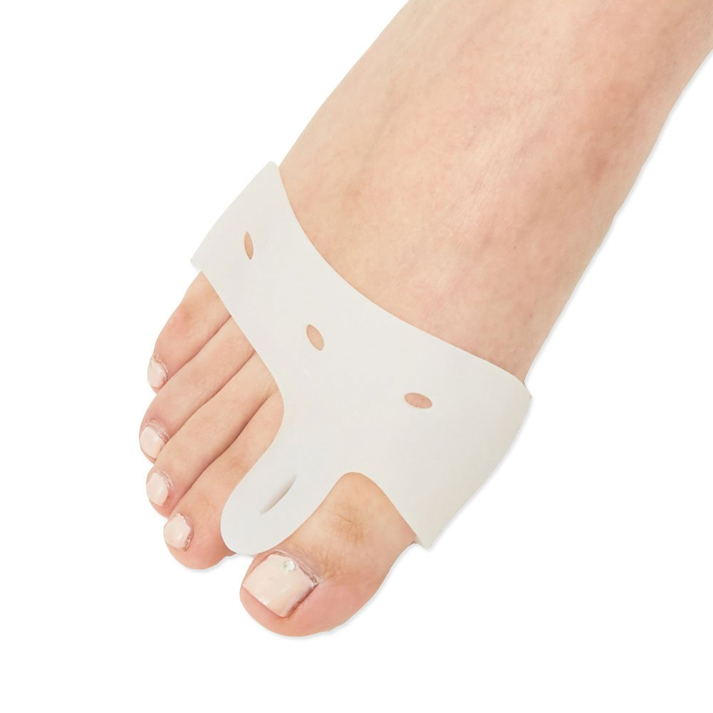 [Medi&Story] Silicone Bunion Corrector&Relief Protector-Treat Pain in Hallux Valgus, Tailors Bunion, Big Toe Joint, Hammer Toe, Toe Separators Spacers Straighteners splint Aid surgery treatment Type_D