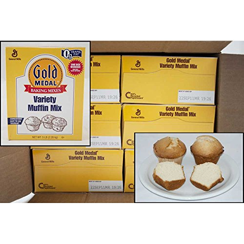 Gold Medal Variety Muffin Mix 6 Case 5 Pound by General Mills