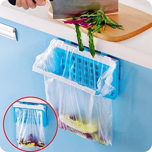 HULISEN Collapsible Practical Hanging Kitchen Cupboard Cabinet Tailgate Stand Storage Garbage Bag Holder Plastic Bracket (Garbage Bag Body Halloween)