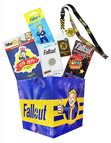 - Toynk Fallout Collectibles LookSee Mini Collectors Box | Lanyard, Keychain, Pin, Cards & More