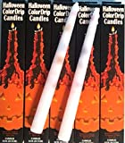 Halloween Color Drip Candles Set 0f 6 Candles 10''